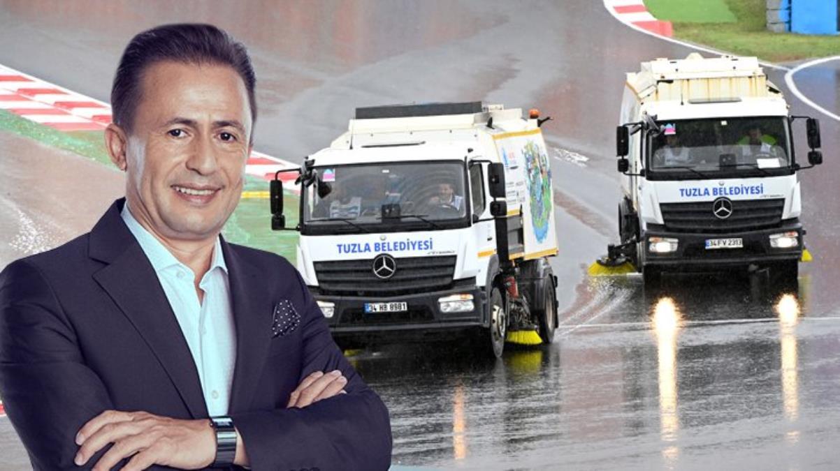 Mercedes ortayı yaptı, Tuzla Belediye Başkanı Şadi Yazıcı golü attı! Temizlik araçlı paylaşıma efsane yanıt
