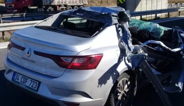 Mersin'de otomobille tır çarpıştı: 1 ölü 3 yaralı