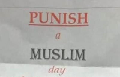 Müslümanlara tehdit mektupları, korkutuyor