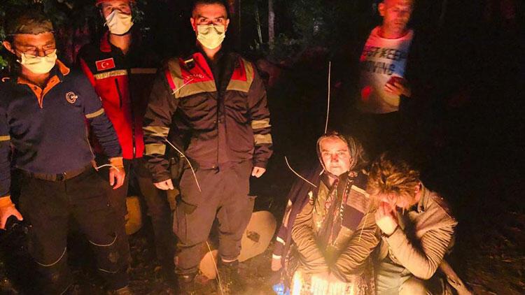 Ormanda kaybolan kadın AFAD ekiplerince bulundu