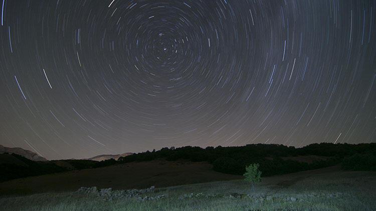 Ovacık'ta yıldızların büyüleyici görüntüleri