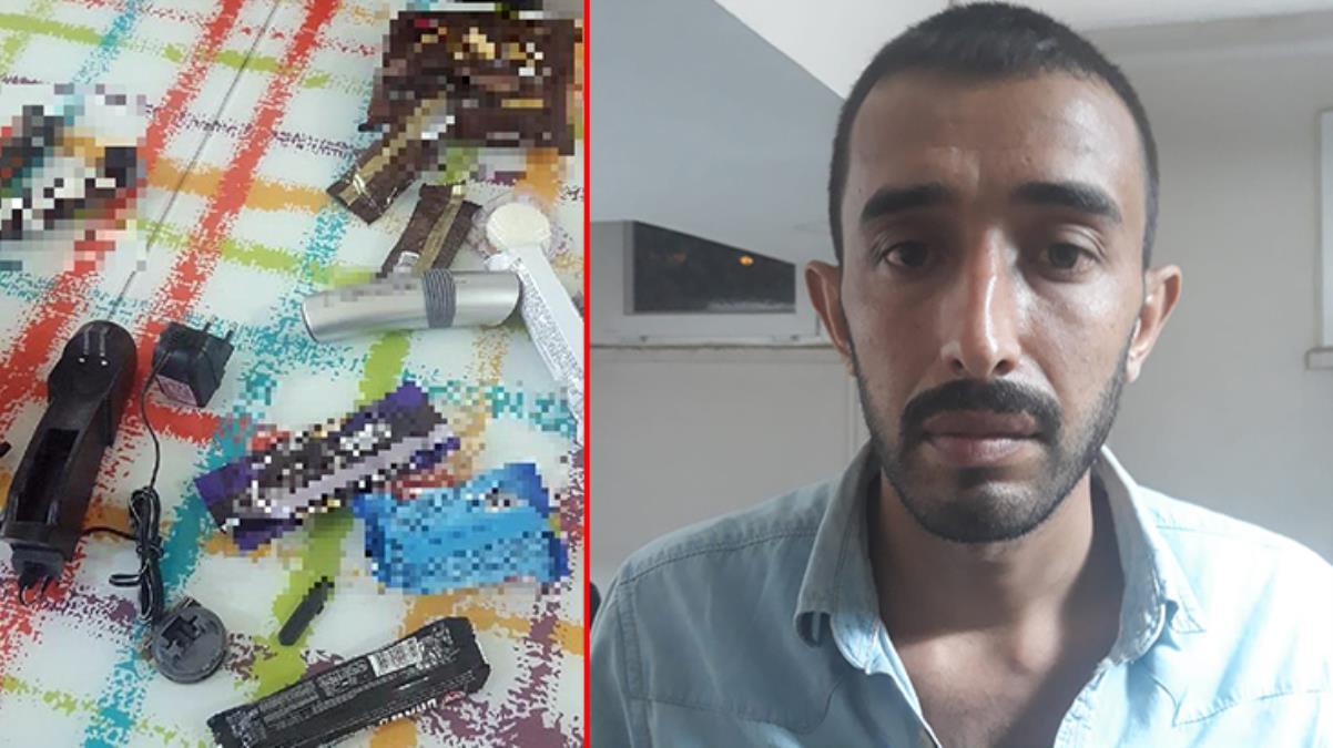 PKK'lı terörist, çikolata ve kek ambalajlarına gizlediği patlayıcıyla yakalandı