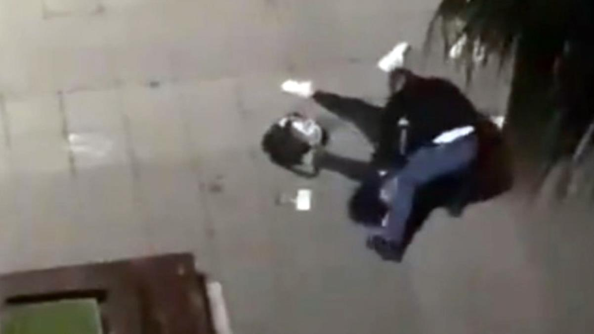Samsun'da eski eşine şiddet uygulayan kocanın darp edildiği anın görüntüleri ortaya çıktı