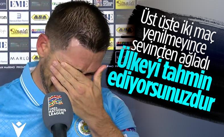 San Marino'lu futbolcunun gözyaşları