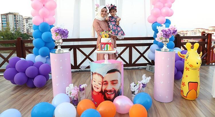 Şehit polisin kızı Asel'e, meslektaşlarından doğum günü sürprizi