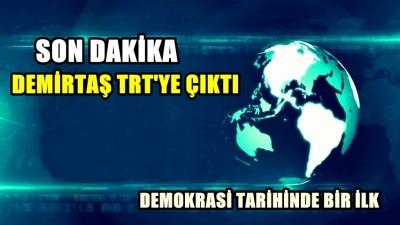 Selahattin Demirtaş TRT de konuşma yaptı