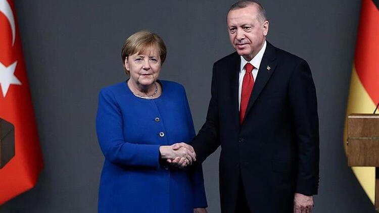Son dakika... Cumhurbaşkanı Erdoğan ile Merkel arasında kritik görüşme