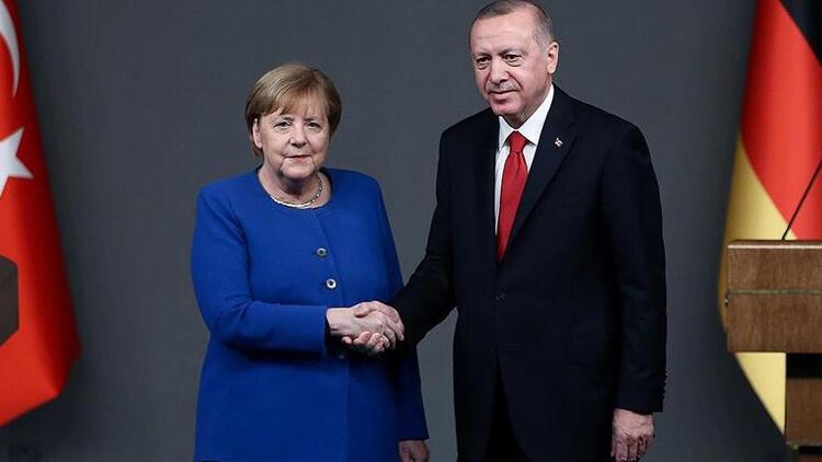 Son dakika... Cumhurbaşkanı Erdoğan ile Merkel'den kritik görüşme