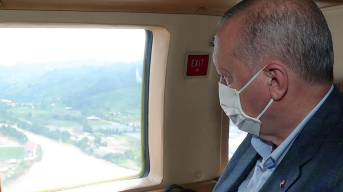 Son Dakika: Cumhurbaşkanı Erdoğan, selin vurduğu Rize'ye gitti! Bölgedeki incelemelerin ardından açıklamalarda bulunacak