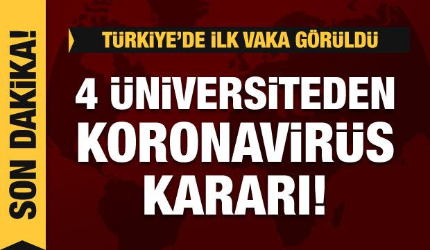 Son dakika haberi: İstanbul'da dört üniversiteden koronavirüs kararı