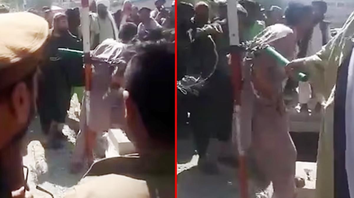 Taliban'dan kırbaçlı ceza Cep telefonu çalmakla suçlanan adama böyle işkence ettiler