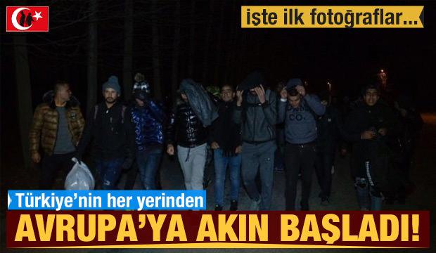 Türkiye'den sınıra akın sürüyor!