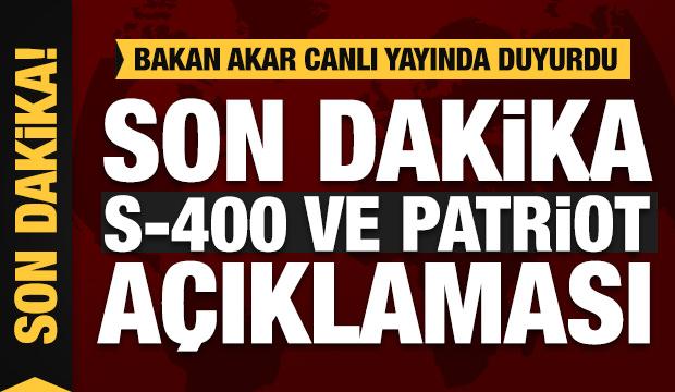 Türkiye'den son dakika Patriot, S-400 ve F-35 açıklaması! Faaliyete geçiyor