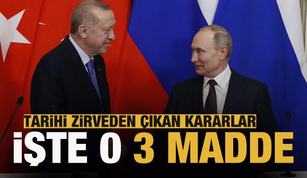 Türkiye ve Rusya anlaşmaya vardı! İşte o 3 madde