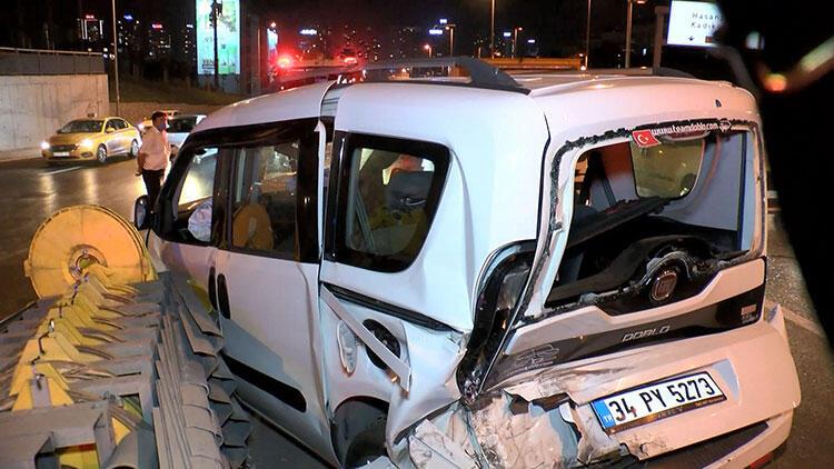 Üst üste iki kez çarptı! Kazada 3 kişi yaralandı